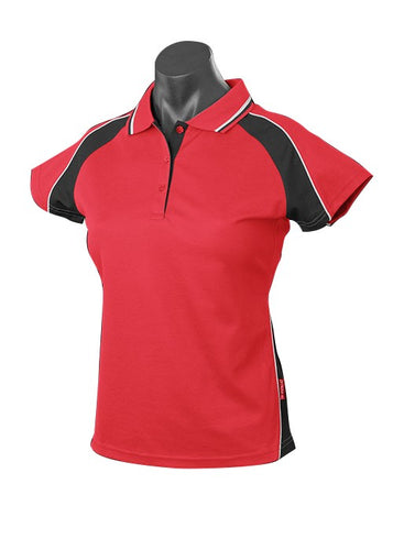LADY PANORAMA POLO STYLE 1309- RED/BLACK/WHITE