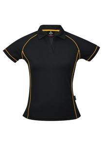 LADY ENDEAVOUR POLO STYLE 2310- Black/Gold
