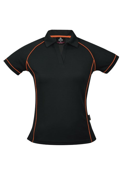 LADY ENDEAVOUR POLO STYLE 2310- Black/Fluro Orange