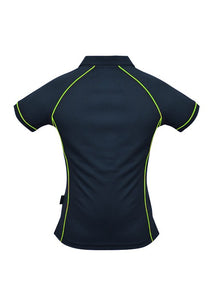 LADY ENDEAVOUR POLO STYLE 2310- Navy/Fluro Green