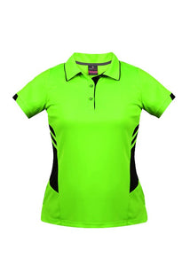 LADY TASMAN POLO STYLE 2311- Neon Green/Black
