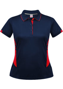 LADY TASMAN POLO STYLE 2311- Navy/Red