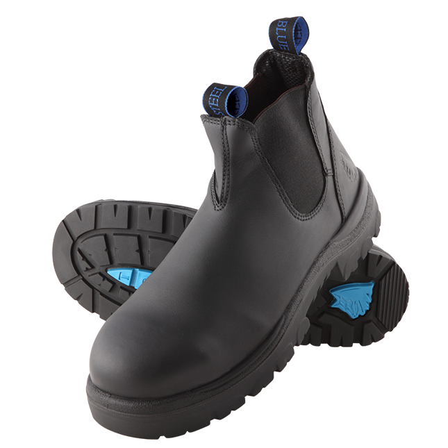 Steel Blue Safety Work Boot- Black Hobart Elastic-312101