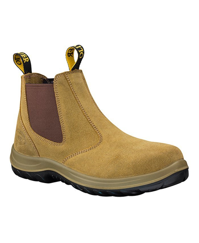 Oliver-Beige Elastic Safety Side Work Boot-34624