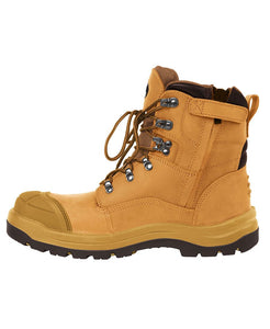 JB Hard Working Wheat Side Zip Boot -9F1