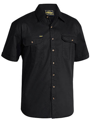 BISLEY ORIGINAL COTTON DRILL SHIRT - SHORT SLEEVE - BS1433