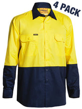 Load image into Gallery viewer, BISLEY TWO TONE HI VIS COOL LIGHTWEIGHT DRILL SHIRT- LONG SLEEVE-BS68954P