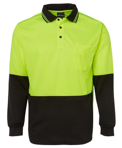 JB's HI VIS L/S TRADITIONAL POLO (with cuff)-6HVPL