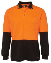 Load image into Gallery viewer, JB's HI VIS L/S TRADITIONAL POLO (with cuff)-6HVPL
