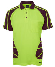 Load image into Gallery viewer, JB's HI VIS S/S Spider Polo- 6HSP