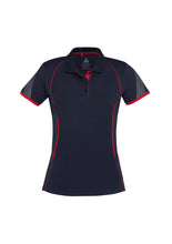Load image into Gallery viewer, LADIES RAZOR POLO P405LS- NAVY/RED