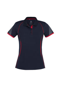 LADIES RAZOR POLO P405LS- NAVY/RED