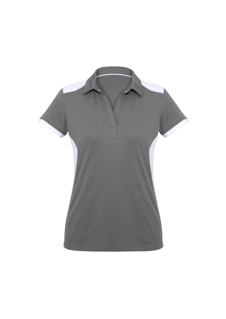 LADIES RIVAL POLO P705LS- SILVER/WHITE
