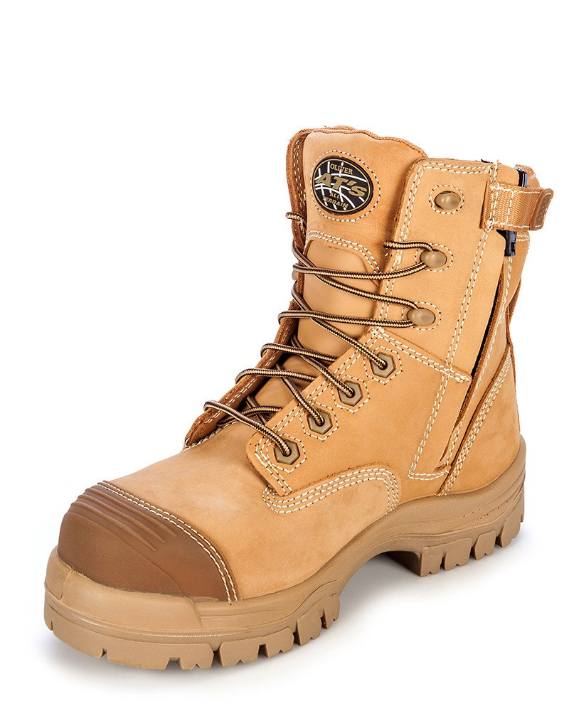 Oliver-Wheat-Zip Side Mid Cut Comp Toe-45632Z