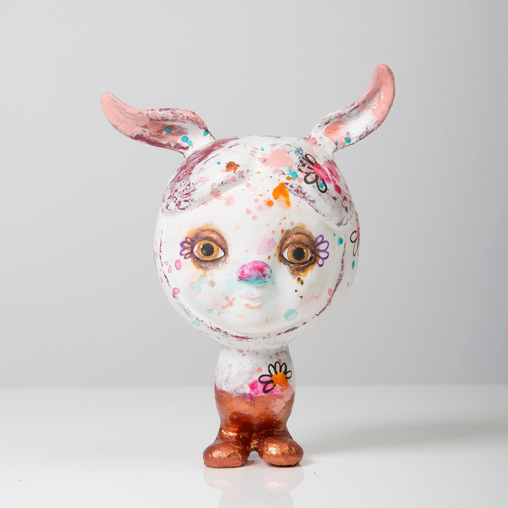 Bunny, white and arty limited edition
