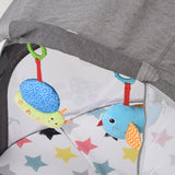 Comfortable mattress is included on this travel cot to make it a cosy place for baby to sleep and easy to clean