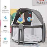 Mesh nets are included on this baby playpen and cot to protect your mini me from mosquito bites