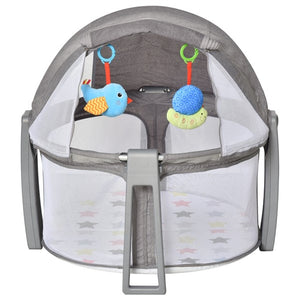 Our soft grey cosy baby cot and playpen offers parents a convenient solution for sleep and play for their lovely little ones.