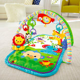 Super cute animal friends will entertain and delight your tot on this cute baby play mat or baby gym.