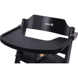 3-in-1 Adjustable Height Black Wooden Highchair & Removable Tray