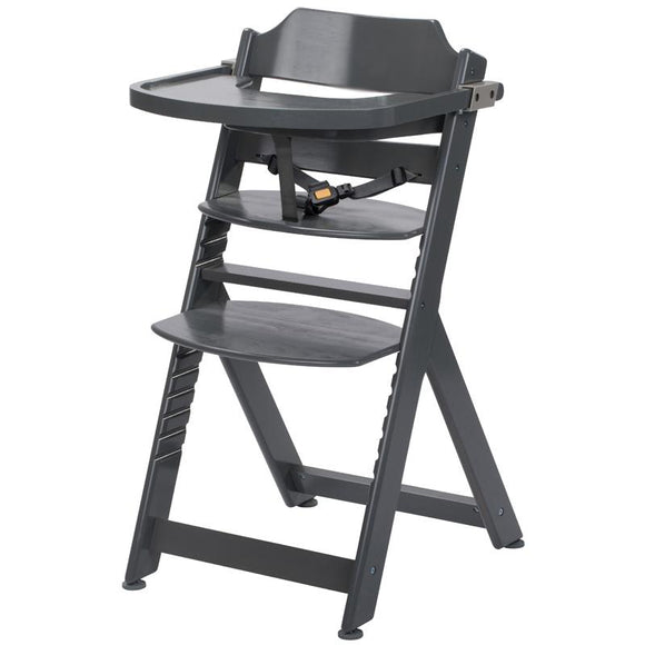 3-in-1 Adjustable Height Warm Grey Highchair & Tray
