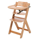 3-in-1 Adjustable Height Wooden High Chair & Tray