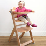 3-in-1 Adjustable Wooden Highchair & Safety Harness & Safety Bar