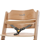 3-point safety harness Adjustable Wooden Highchair