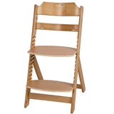 3-in-1 Wooden Highchair & Adjustable footrest & junior chair