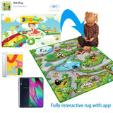 Together with the 3DU app, your tot can learn  about jungle animals and sea faring creatures with sound and animation.