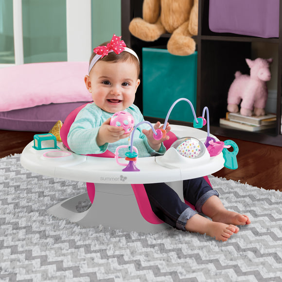 4-in-1 Pink & White Activity Super Seat | Booster Seat | Feeding Seat | Support Seat & Toys