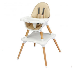 The 4 in 1 convertible design, allows the high chair to be styled into 4 different designs to meet your child needs.