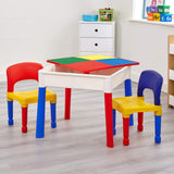 The storage area can be used for toys, games, etc but is also suitable for sand or water play