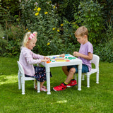 children to sit at and enjoy play, arts & crafts activities, or to enjoy a picnic in the garden