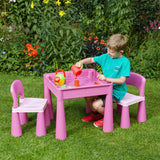 sit at and enjoy play, arts & crafts activities, or to enjoy a picnic in the garden