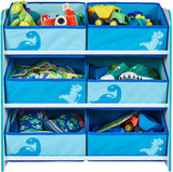 Fun dinosaurs themed storage unit with fabric pockets