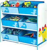 With 6 large fabric bin pockets, it can take all of the bits and bobs our little one's accumulate, keeping rooms tidy.