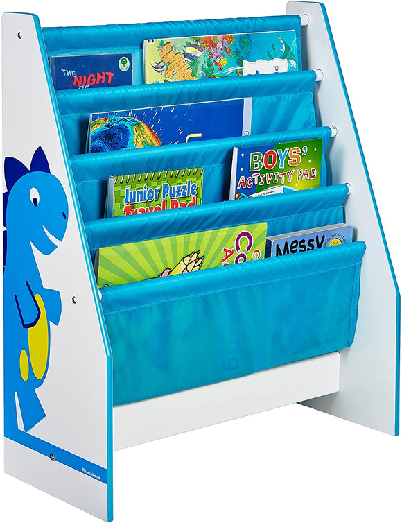 From story time to tidy-up-time why not put play time into turbo with Little Helper's Diddi Dino furniture sling bookcase.