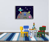 Playroom wall art, nursery wall art or nursery wall stickers in alien theme - different sizes to suit budget and space
