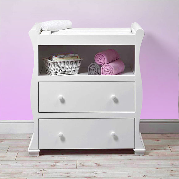 This baby changing unit and chest of drawers has been carefully designed and thoroughly tested.