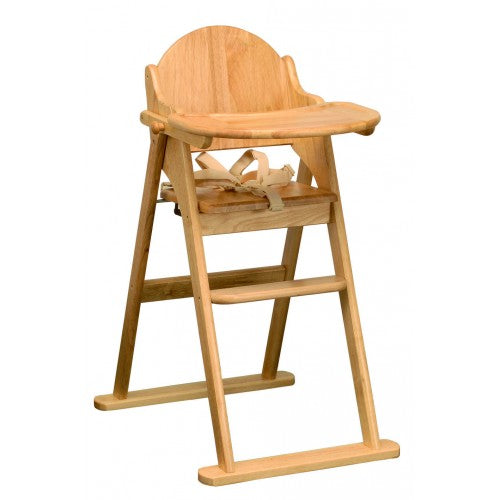This solid wood beech Folding Highchair is suitable from 6 months when baby moves from milk to solids.