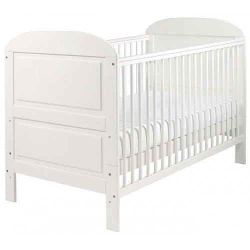 This gorgeously finished Crescent Cot Bed carries your little one through being a fresh newborn, all the way to being a toddler!