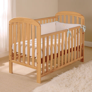 Classic Annabelle Antique Pine Wooden Cot with Dropside