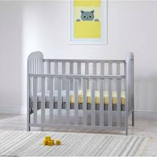 This classy looking grey wooden dropside crib enables your child to have a comfortable, secure nights sleep.