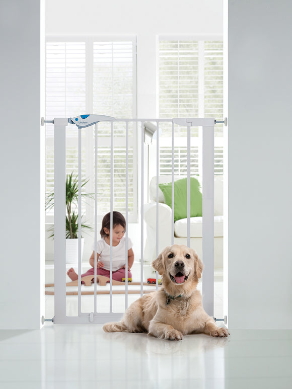 Lindam Easy Fit Plus Deluxe Gate + Tall Gate | Baby Gate | White Stair Gate (92cm)