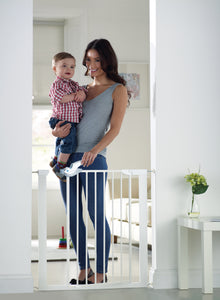 Lindam Easy Fit Plus Deluxe Gate | Baby Gate | White Stair Gate (76-82cm)