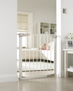 Lindam Sure Shut Orto Gate | Baby Gate | White Stair Gate (76-82cm)