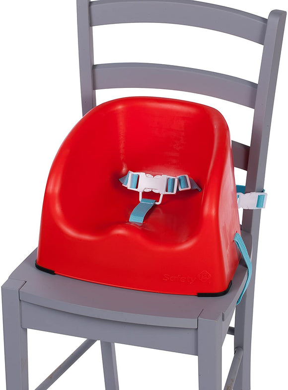 Everyday Baby Booster Seat for Table | Feeding Seat | Red with Blue Straps