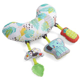 A super soft head rest also included with removable animal friends to amuse and delight.