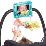 This mirror which can also be removed and be used on a car seat features a mirror - endless fascination for baby as baby develops